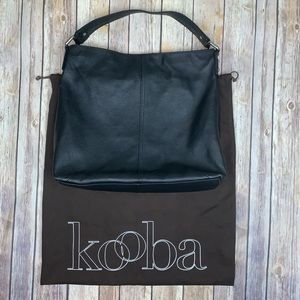 Kooba black leather hobo